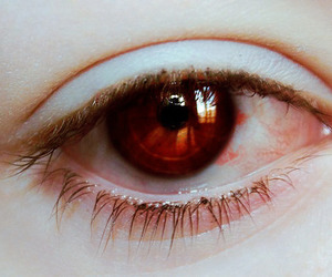 eye, blood, and pale skin image