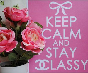 keep calm, pink, and classy image