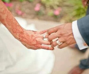 couple, hands, and henna image