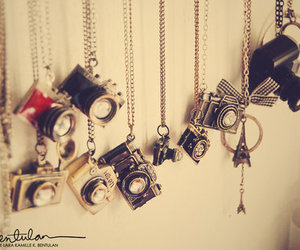 camera, necklace, and vintage image
