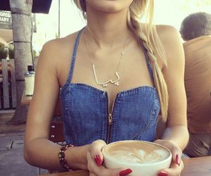 blonde, style, and coffee image