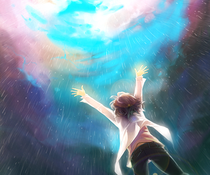 anime, rain, and sky image