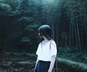 asian, girl, and goth image