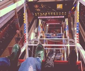 amusement park, ferris wheel, and feet image
