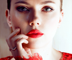 Scarlett Johansson, red, and beauty image