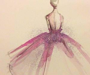 dress, pink, and art image