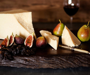 cheese, figs, and food image