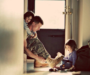 family, dad, and soldier image