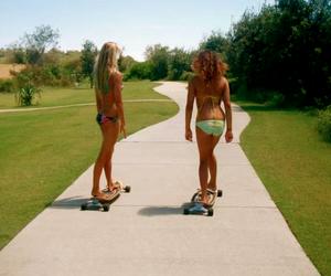 bikini, summer, and girls image