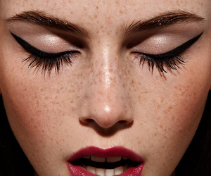 makeup, freckles, and lips image