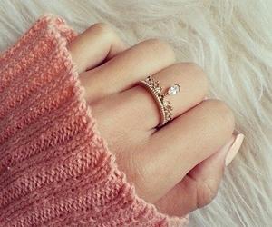 ring, pink, and nails image