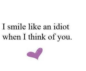 smile, love, and idiot image