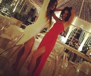 kendall jenner, khloe kardashian, and dress image