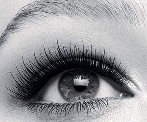 beautiful, makeup, and black and white image