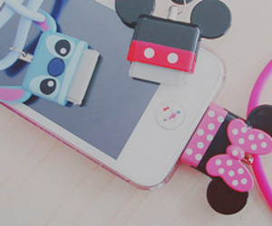 iphone, disney, and stitch image