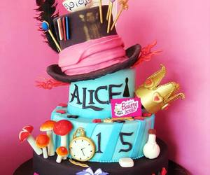 alice in wonderland and cake image