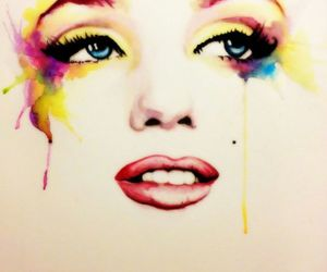 art, colourful, and marilyn image
