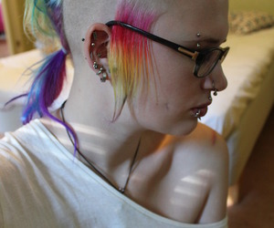 dyed hair, punk girl, and punk image