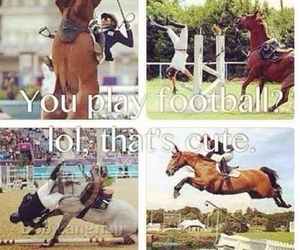 equestrian, football, and horse image