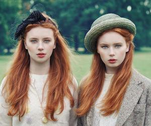 girl, twins, and redhead image
