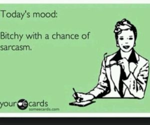 bitchy, mood, and sarcasm image