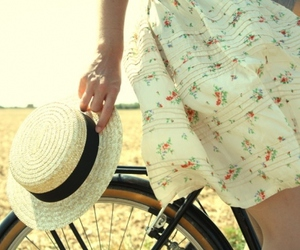 bicycle, dress, and photography image
