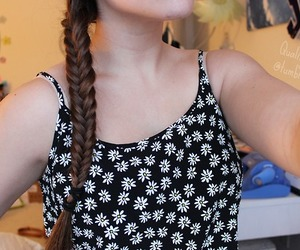 tumblr, braid, and fishtail image