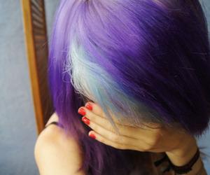 alt, purple hair, and blue hair image