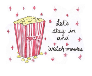 popcorn, movies, and quote image