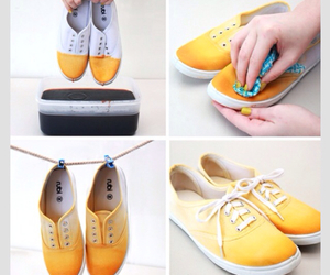 diy, shoes, and yellow image