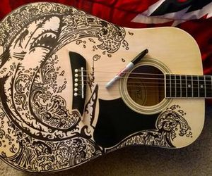 guitar, black, and shark image