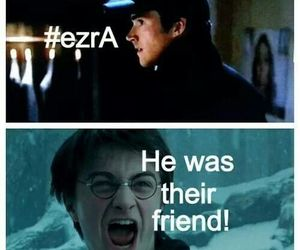 harry potter, ezra, and pretty little liars image