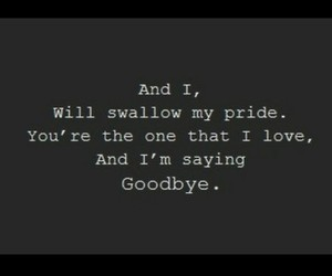 say something, goodbye, and quote image