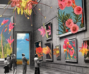 art, flowers, and museum image