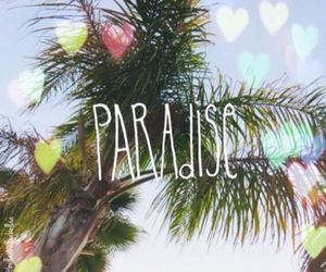 paradise, summer, and hearts image