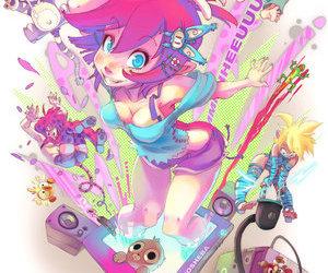 illustration, joy, and pink image