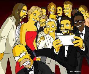 oscar, simpsons, and selfie image
