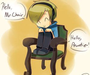 pewdiepie, mr.chair, and pewds image