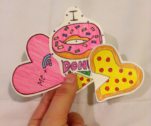 art, colorful, and donut image