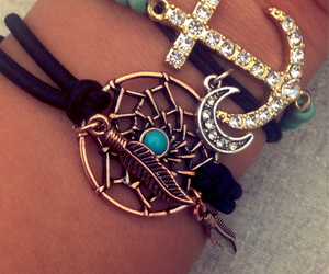 anchor, bracelets, and Dream image