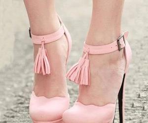 ankle strap, heels, and shoes image