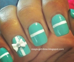 nails, bow, and white image