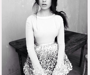 lily collins, black and white, and model image