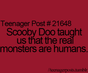 teenager post, humans, and monsters image