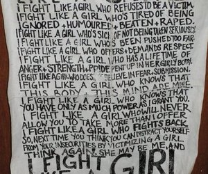 fight and girl image