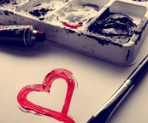 heart and paint image