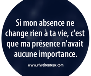 absence, presence, and french image