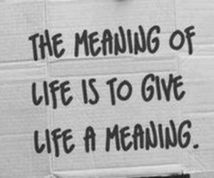 life, black and white, and meaning image