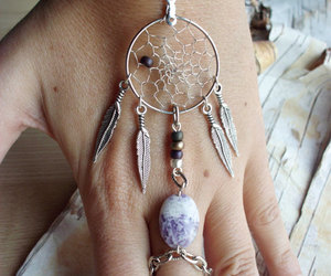 Braclet, dreamcatcher, and jewelry image