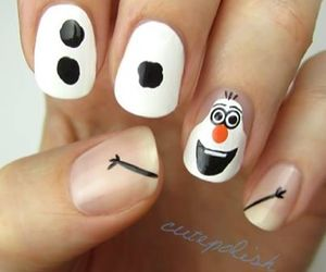 olaf, nails, and frozen image